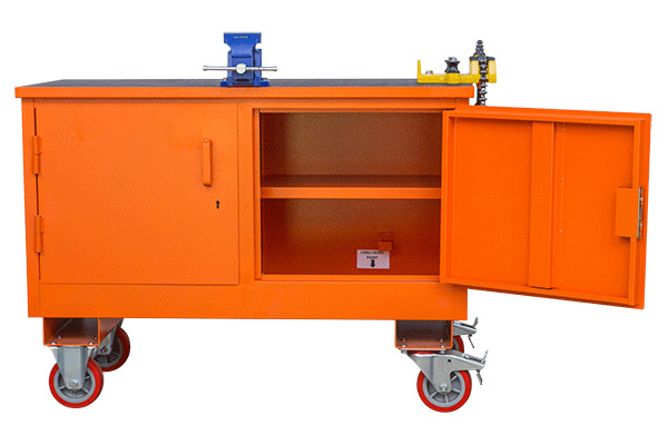 MEP Hire pipe bench with storage