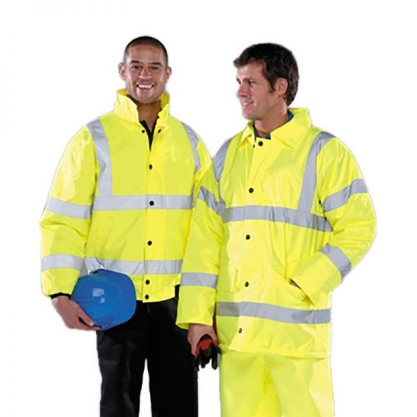 Hi Viz Yellow Bomber Jacket