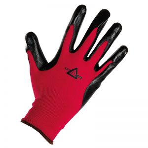 MEP Hire Keepsafe Black and Red Glove