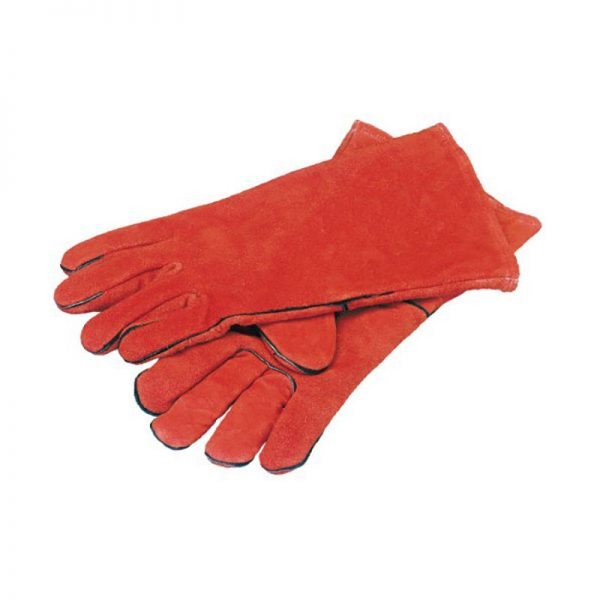 Premium Quality Lined Red Welders Gauntlets