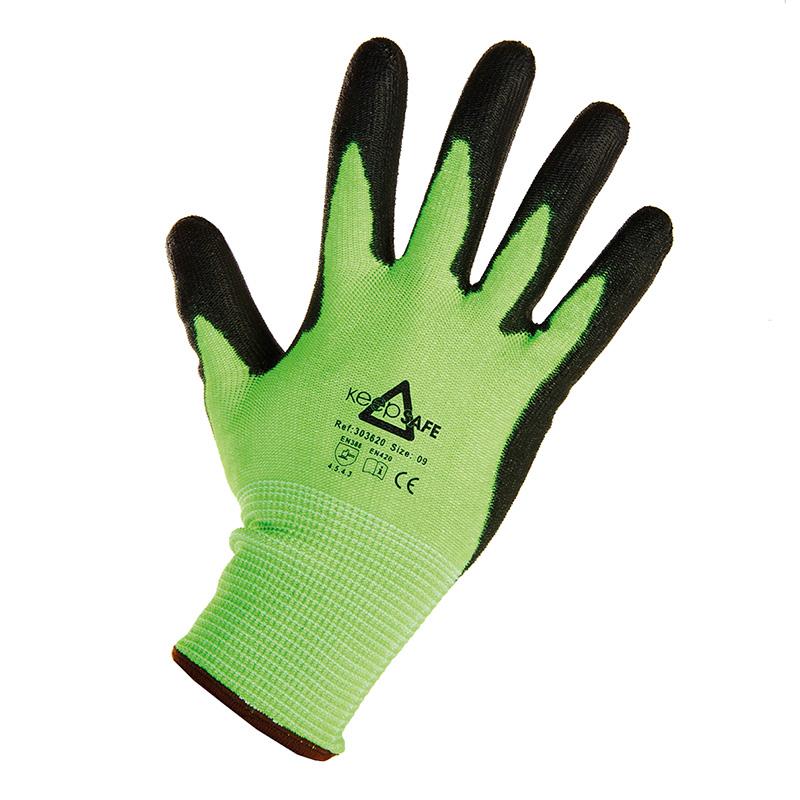 MEP Hire Keepsafe Black and Green Glove