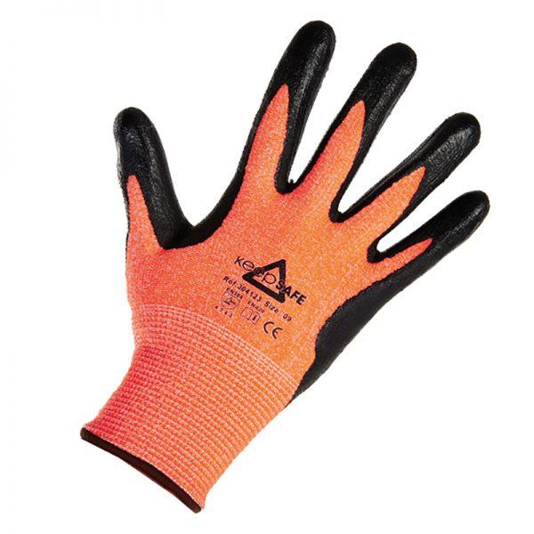 MEP Hire Keepsafe Black and Orange Glove